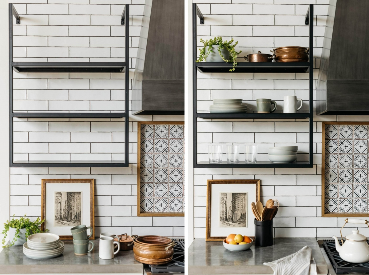 shelving images open shelving in the kitchen mr bid carpet and cabinet mr bid services